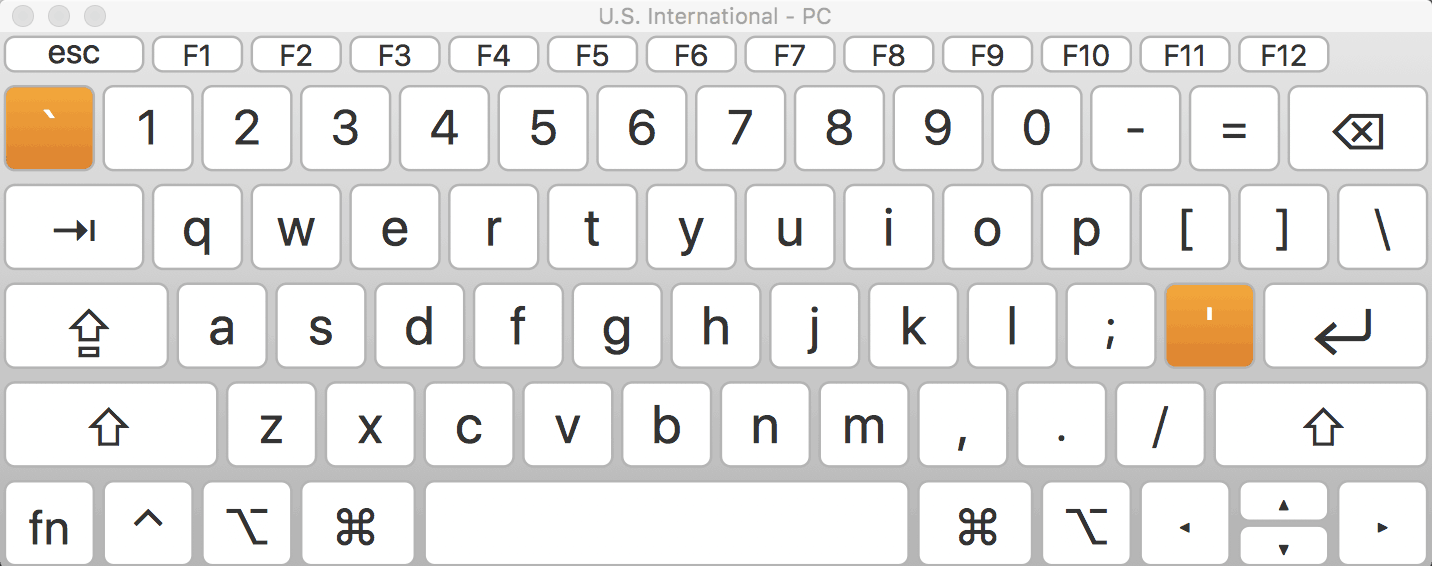 How to Type French Accents on a US International PC Keyboard