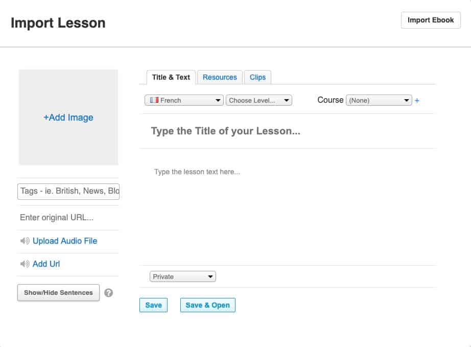 Importing Your Own Lesson on Lingq