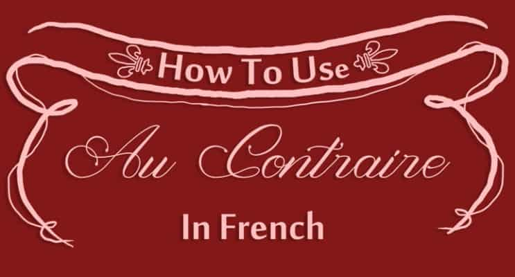 How to Use Au Contraire in French