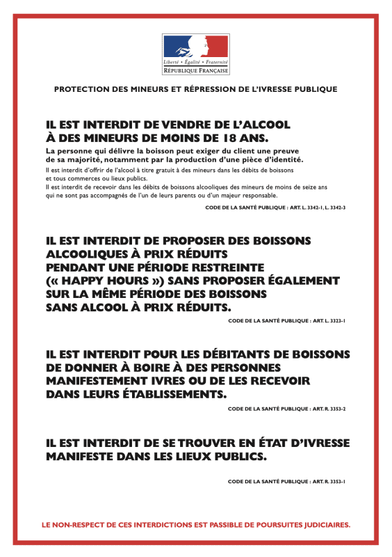 French Drinking Restrictions