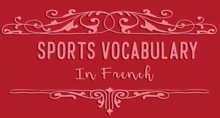 Sports Vocabulary in French